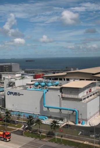 PUB TUAS סינון מקדים לפני ממברנות UF ו RO במתקן התפלת מי-ים, סינגפור